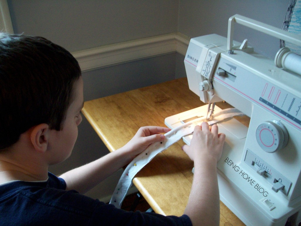 Mark sewing piping